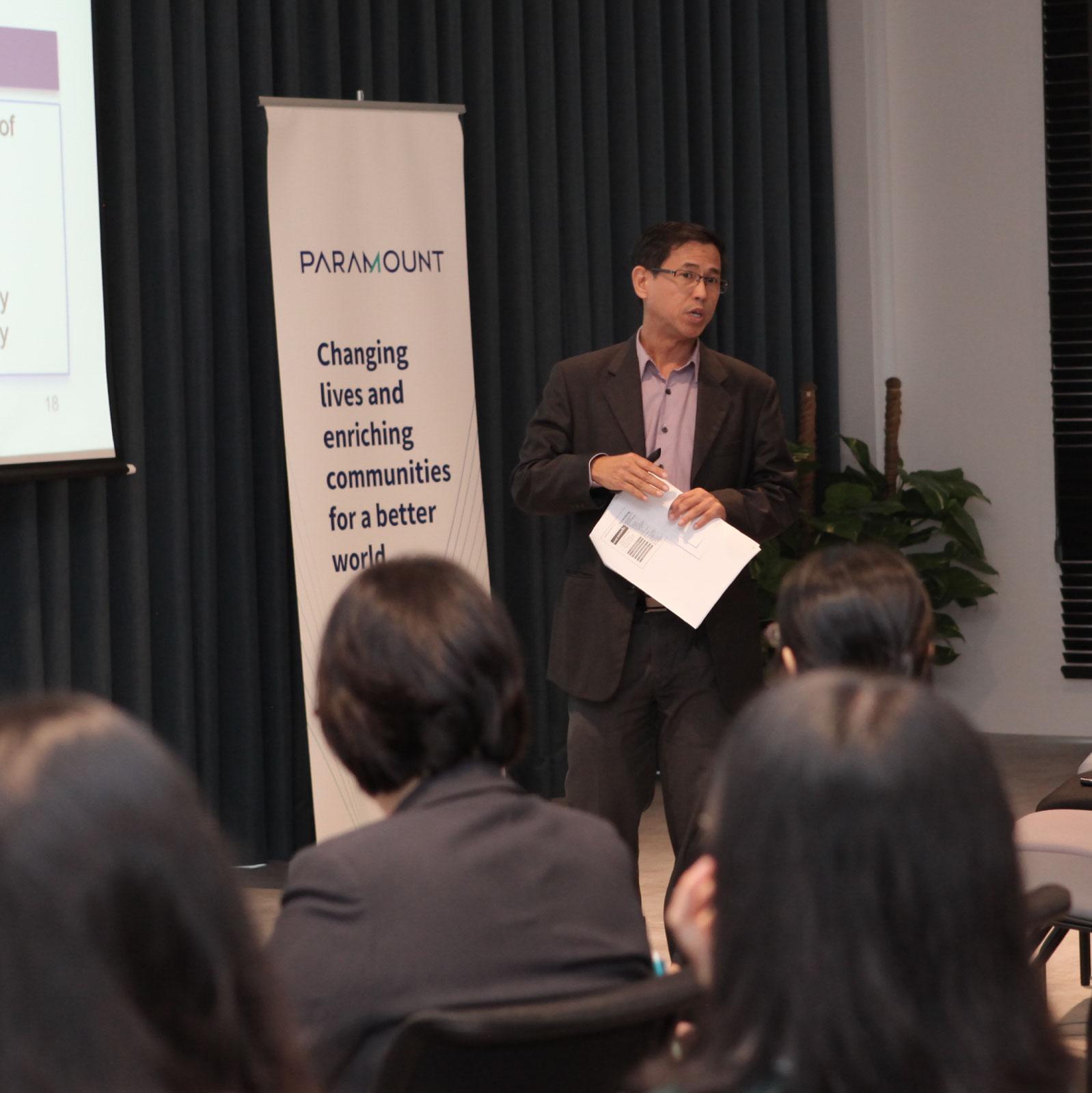 Jeffrey Chew conducting Investor Relations briefing